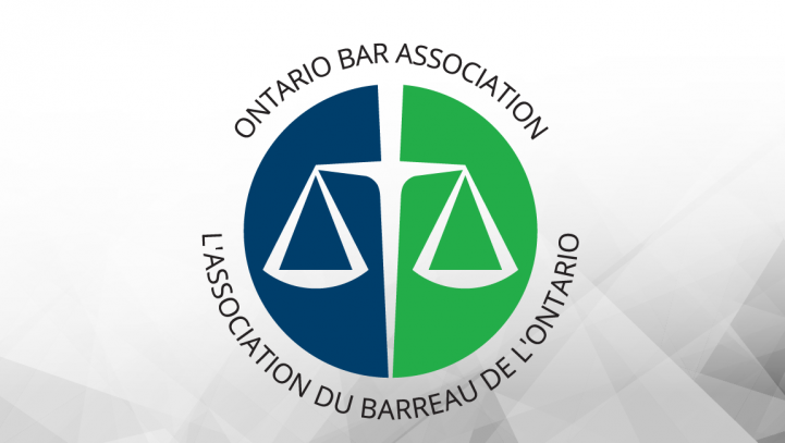 Continuing on the Ontario Bar Association Family Law Executive